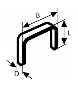 Кламери  телбод 10/10 BOSCH - 1000 бр.
